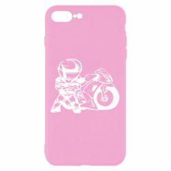 Чехол для iPhone 7 Plus Мотоциклист - FatLine