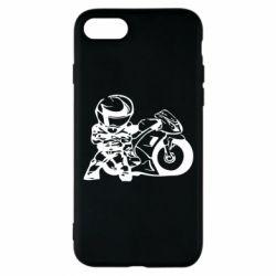 Чехол для iPhone 8 Мотоциклист - FatLine