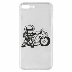 Чехол для iPhone 8 Plus Мотоциклист - FatLine