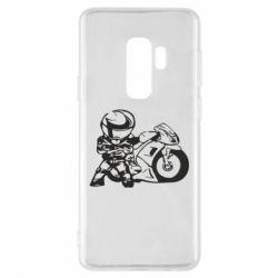 Чехол для Samsung S9+ Мотоциклист - FatLine