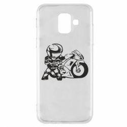 Чехол для Samsung A6 2018 Мотоциклист - FatLine
