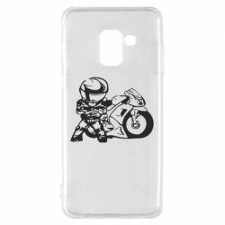 Чехол для Samsung A8 2018 Мотоциклист - FatLine