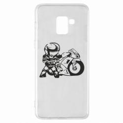 Чехол для Samsung A8+ 2018 Мотоциклист - FatLine