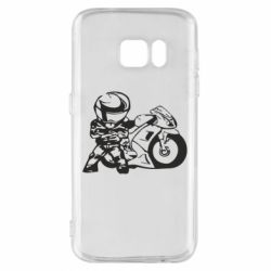 Чехол для Samsung S7 Мотоциклист - FatLine