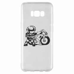 Чехол для Samsung S8+ Мотоциклист - FatLine