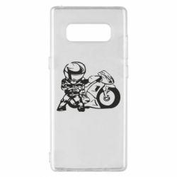Чехол для Samsung Note 8 Мотоциклист - FatLine