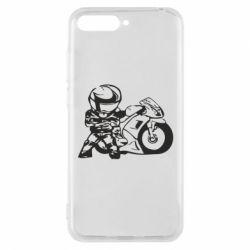 Чехол для Huawei Y6 2018 Мотоциклист - FatLine
