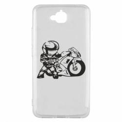Чехол для Huawei Y6 Pro Мотоциклист - FatLine
