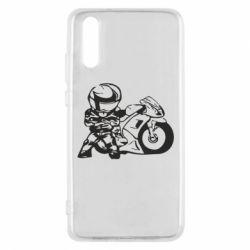 Чехол для Huawei P20 Мотоциклист - FatLine