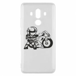 Чехол для Huawei Mate 10 Pro Мотоциклист - FatLine