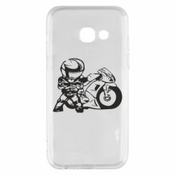 Чехол для Samsung A3 2017 Мотоциклист - FatLine