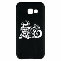 Чехол для Samsung A5 2017 Мотоциклист - FatLine