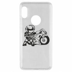 Чехол для Xiaomi Redmi Note 5 Мотоциклист - FatLine