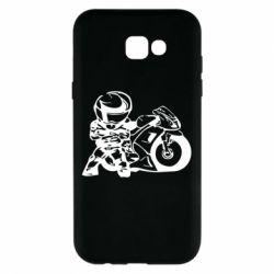 Чехол для Samsung A7 2017 Мотоциклист - FatLine