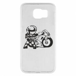 Чехол для Samsung S6 Мотоциклист - FatLine
