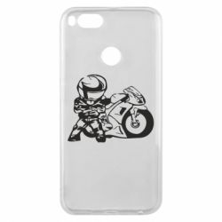 Чехол для Xiaomi Mi A1 Мотоциклист - FatLine