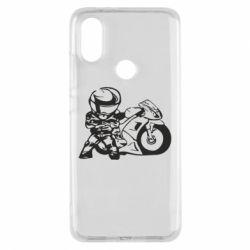 Чехол для Xiaomi Mi A2 Мотоциклист - FatLine