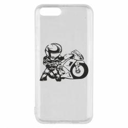 Чехол для Xiaomi Mi6 Мотоциклист - FatLine