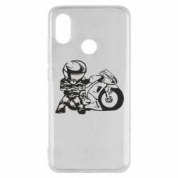 Чехол для Xiaomi Mi8 Мотоциклист - FatLine