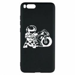 Чехол для Xiaomi Mi Note 3 Мотоциклист - FatLine