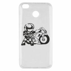 Чехол для Xiaomi Redmi 4x Мотоциклист - FatLine