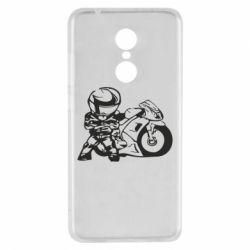 Чехол для Xiaomi Redmi 5 Мотоциклист - FatLine