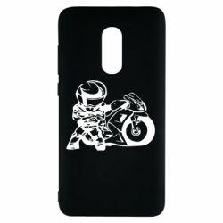 Чехол для Xiaomi Redmi Note 4 Мотоциклист - FatLine