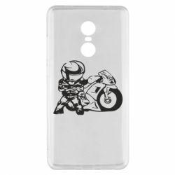 Чехол для Xiaomi Redmi Note 4x Мотоциклист - FatLine