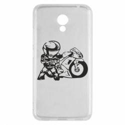 Чехол для Meizu M5c Мотоциклист - FatLine