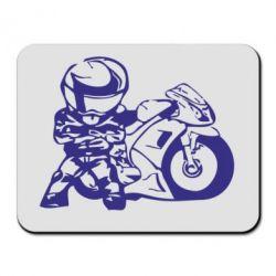 Коврик для мыши Мотоциклист - FatLine