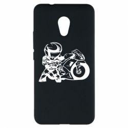 Чехол для Meizu M5s Мотоциклист - FatLine
