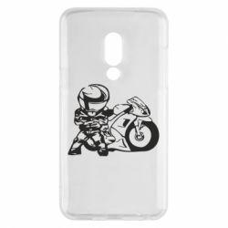 Чехол для Meizu 15 Мотоциклист - FatLine