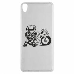 Чехол для Sony Xperia XA Мотоциклист - FatLine