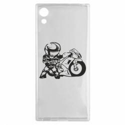 Чехол для Sony Xperia XA1 Мотоциклист - FatLine