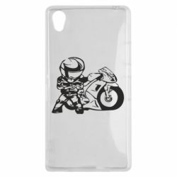 Чехол для Sony Xperia Z1 Мотоциклист - FatLine