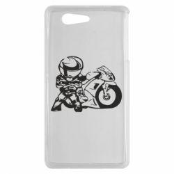 Чехол для Sony Xperia Z3 mini Мотоциклист - FatLine