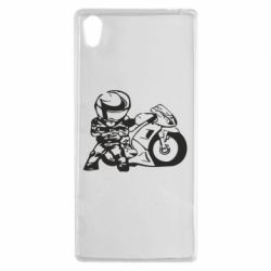 Чехол для Sony Xperia Z5 Мотоциклист - FatLine