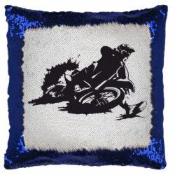 Подушка-хамелеон Мотокросс лого