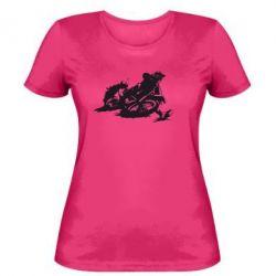 Женская футболка Мотокросс лого - FatLine