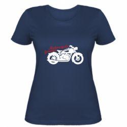 Жіноча футболка Motorcycle forever
