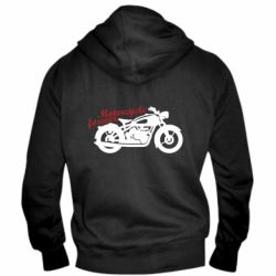 Чоловіча толстовка на блискавці Motorcycle forever