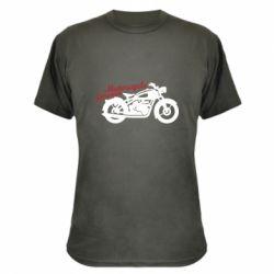 Камуфляжна футболка Motorcycle forever