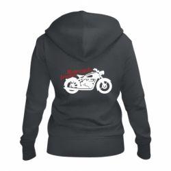 Жіноча толстовка на блискавці Motorcycle forever