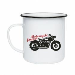 Кружка емальована Motorcycle forever