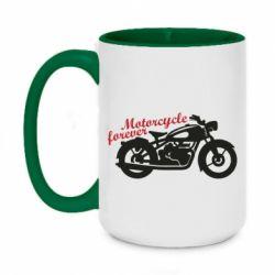 Кружка двоколірна 420ml Motorcycle forever
