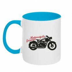 Кружка двоколірна 320ml Motorcycle forever