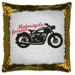Подушка-хамелеон Motorcycle forever