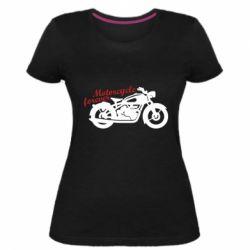 Жіноча стрейчева футболка Motorcycle forever