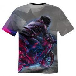 Чоловіча 3D футболка Motorcycle neon lov poly c4997b03229af