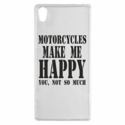 Чехол для Sony Xperia Z5 Motorcycles make me happy you not so much - FatLine